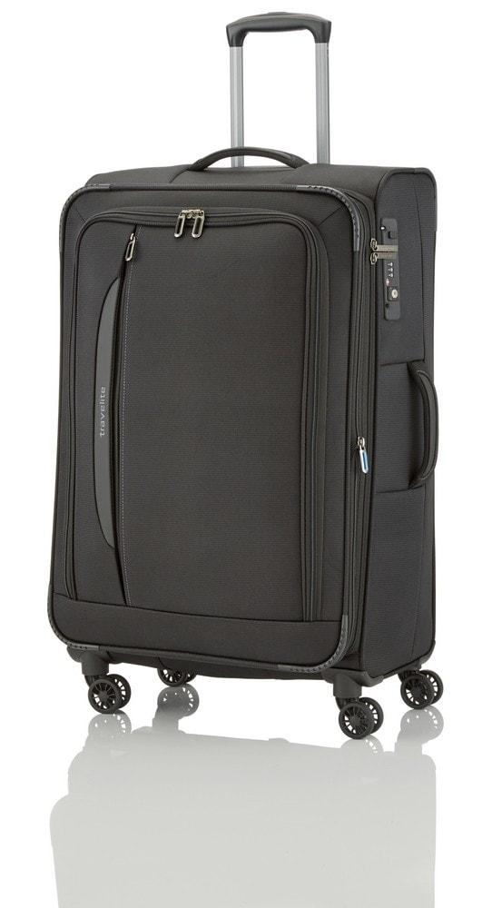 Travelite Cestovní kufr CrossLITE 4w L 89549-01 - černá