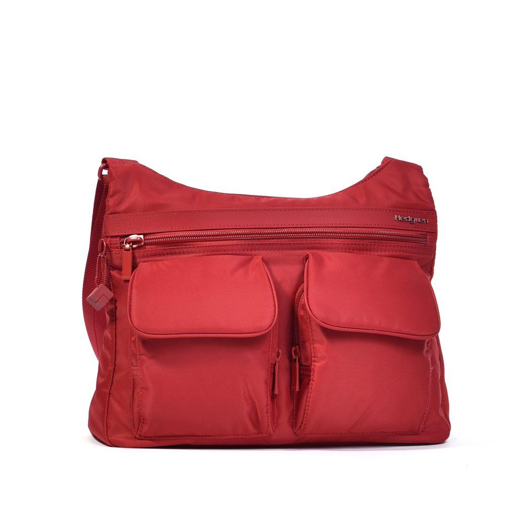 Hedgren Dámská kabelka přes rameno RFID Prarie - červená