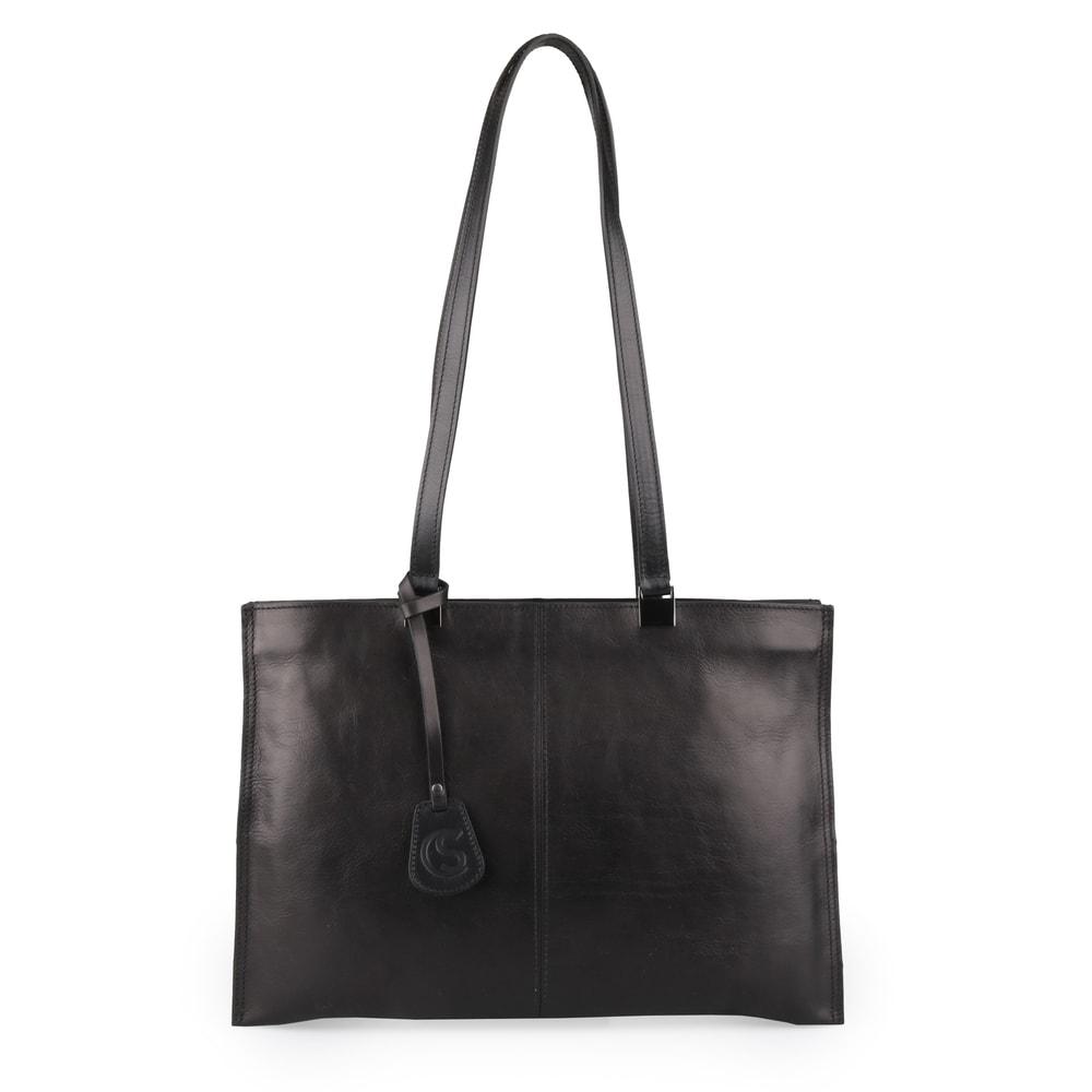 Sněžka Náchod Dámská kožená kabelka přes rameno 4201 - černá