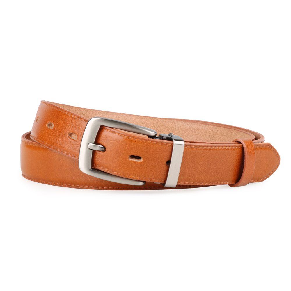Penny Belts Pánský kožený společenský opasek 30-020-2-42 světle hnědý - 100