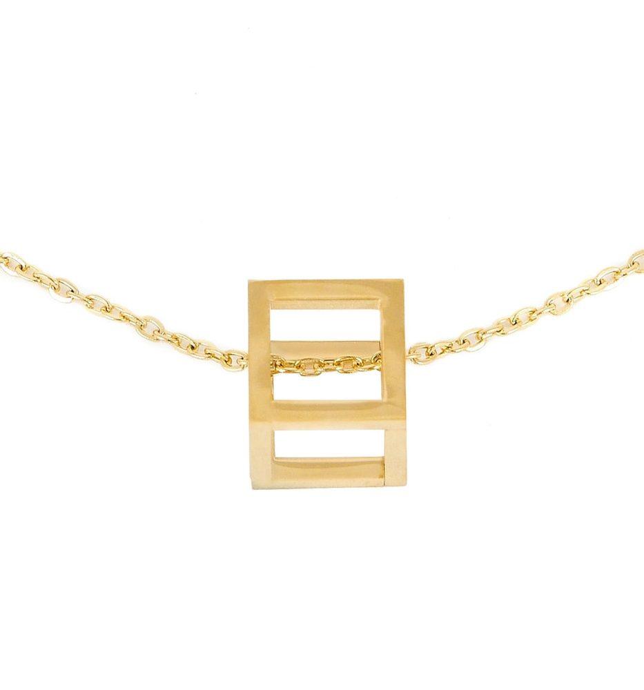 Vuch Dámský náhrdelník Cube Gold