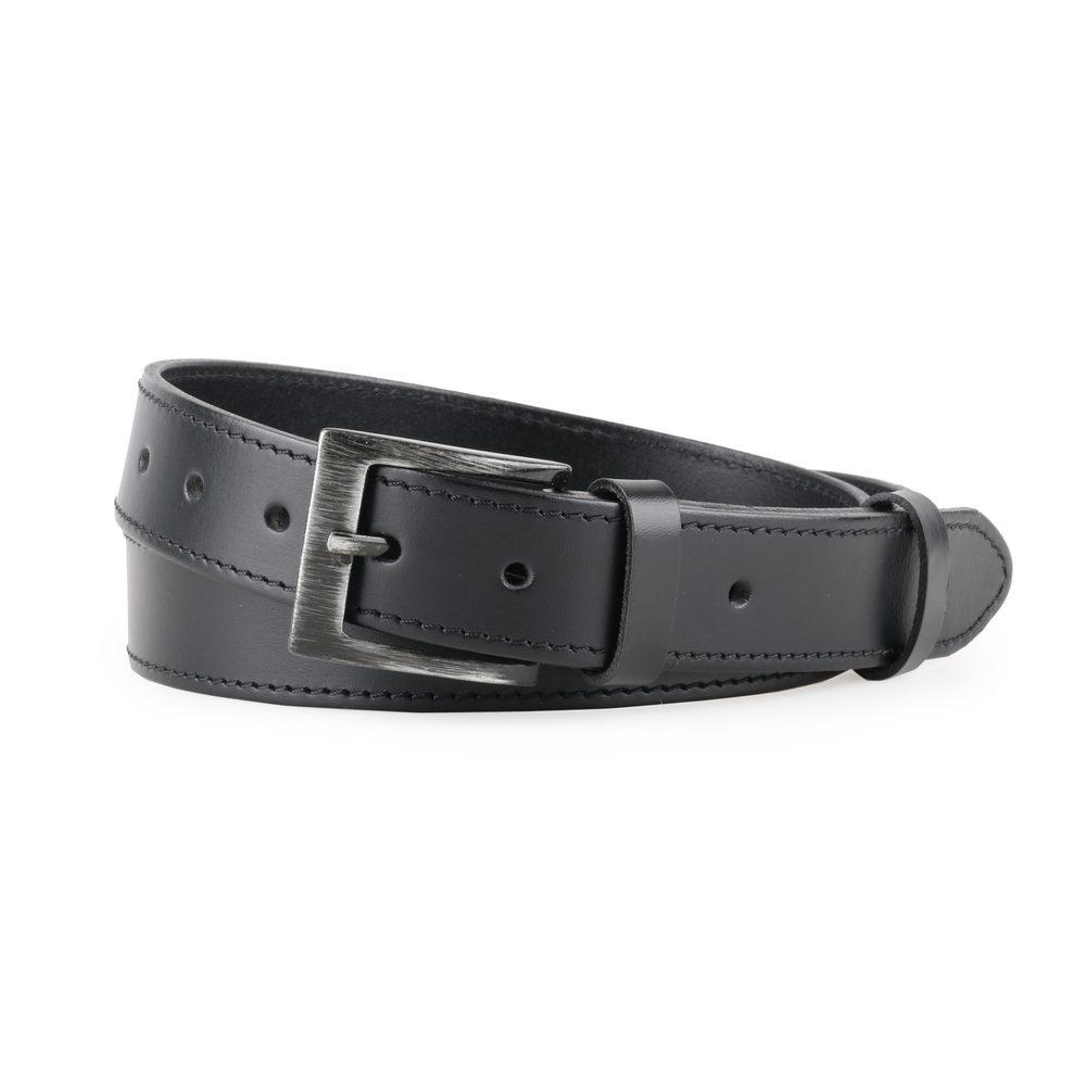 Penny Belts Pánský kožený opasek 14-1-60 černý - 100