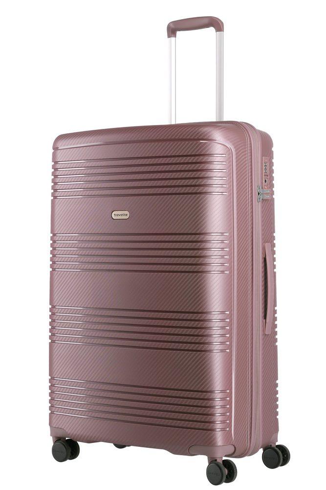 Travelite Skořepinový cestovní kufr Zenit L Dark Rose 106 l