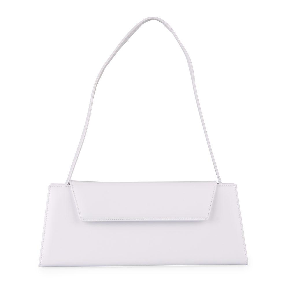 Hajn Dámská kožená společenská kabelka 1520015 - bílá