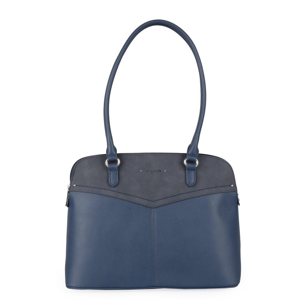 David Jones Paris Dámská kabelka přes rameno 6234-1 - tmavě modrá