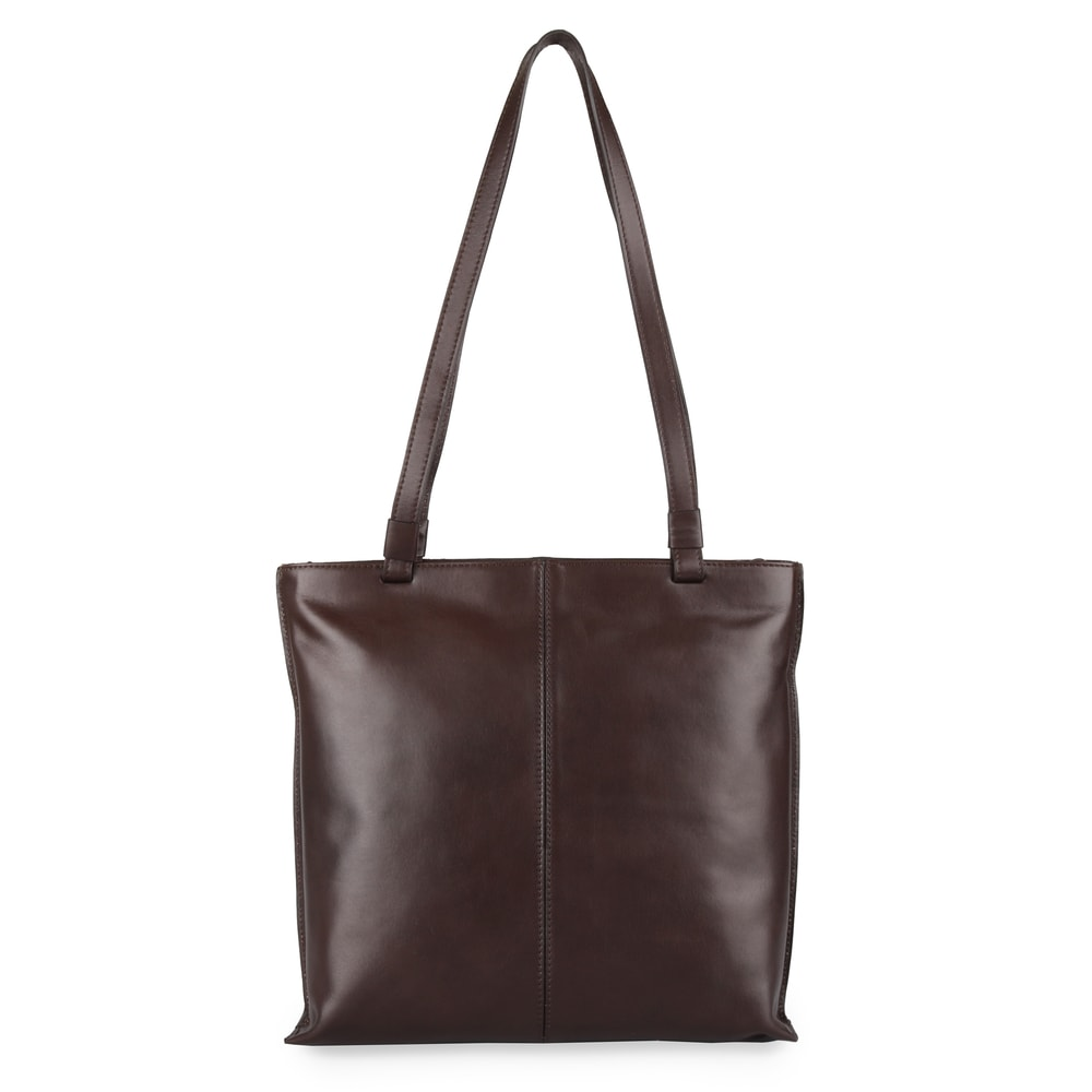Elega Dámská kožená kabelka přes rameno 67905 - tmavě hnědá