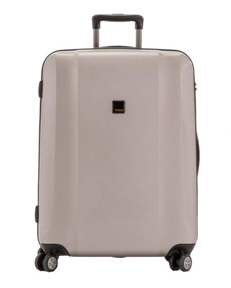 Titan Skořepinový cestovní kufr Xenon M Champagne 80 l