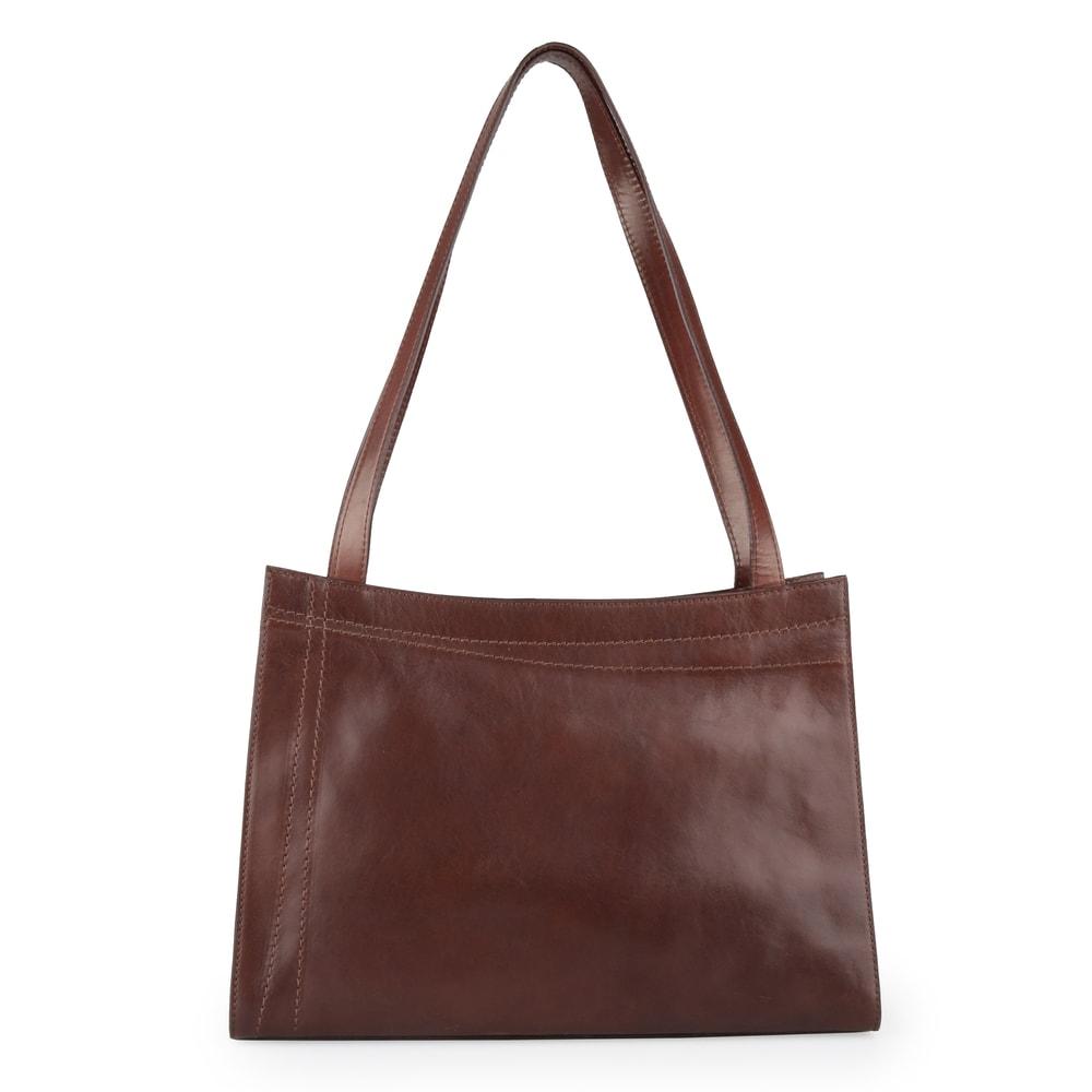 Elega Dámská kožená kabelka přes rameno Megan 67525 - hnědá