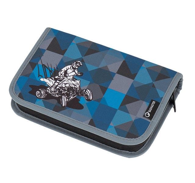 Bagmaster Klučičí školní penál GALAXY 7 F BLUE/BLACK/GREY
