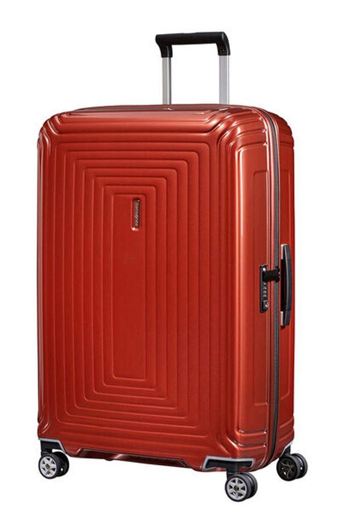 Samsonite Cestovní kufr Neopulse Spinner 44D 94 l - METALLIC INTENSE RED