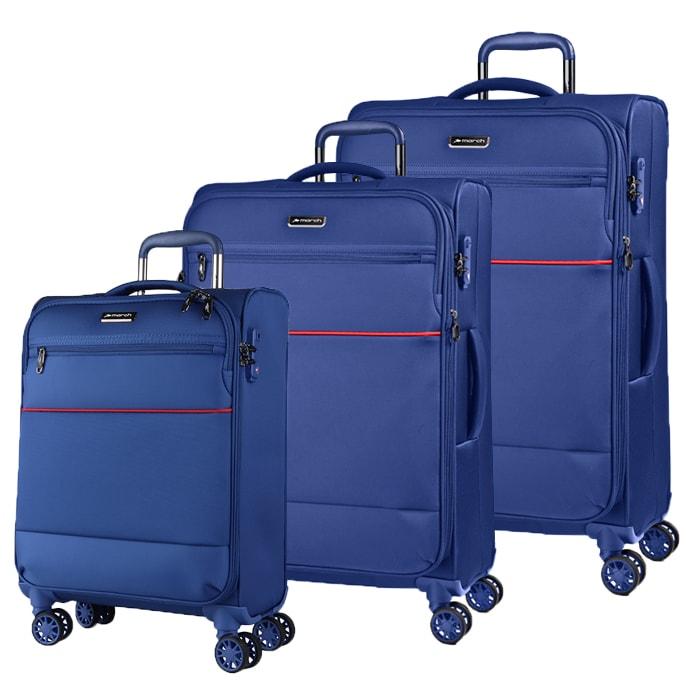 March Sada cestovních kufrů Easy S + M + L, světle modrá