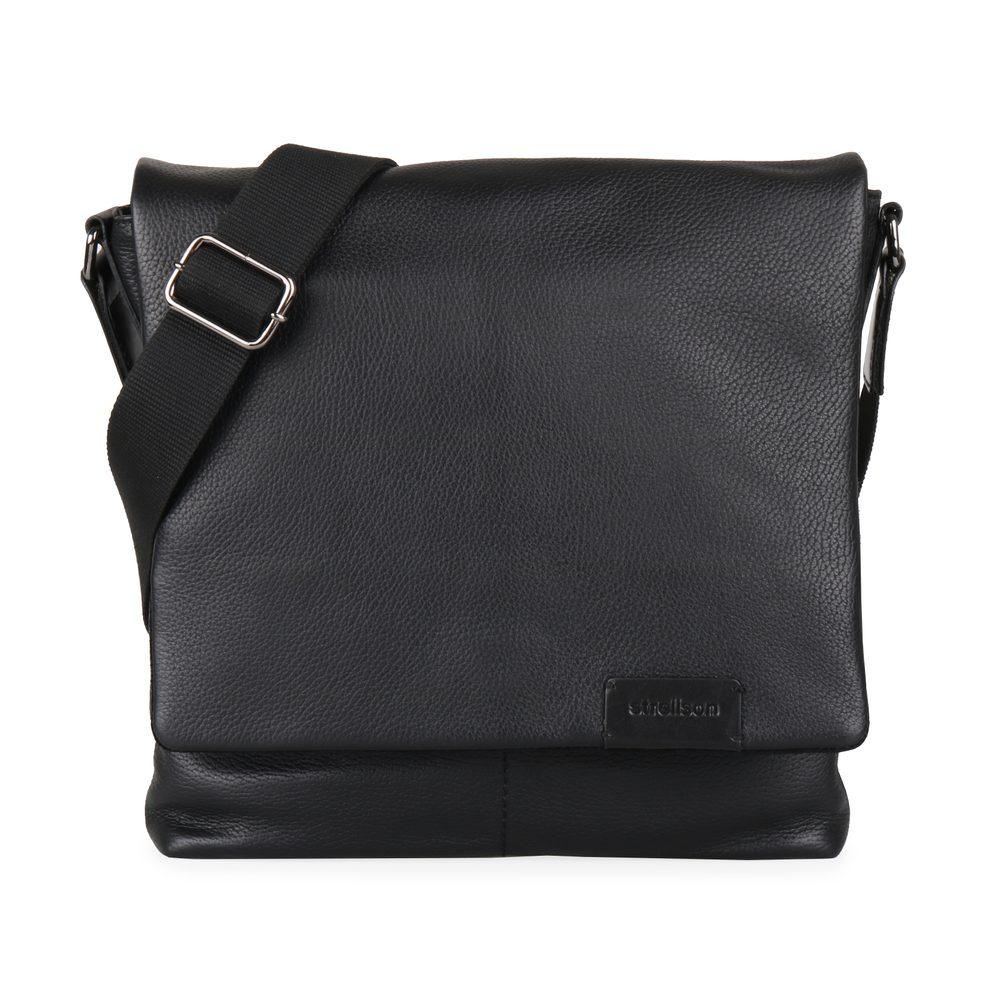 Strellson Pánská kožená taška přes rameno Garret 4010002349 - černá
