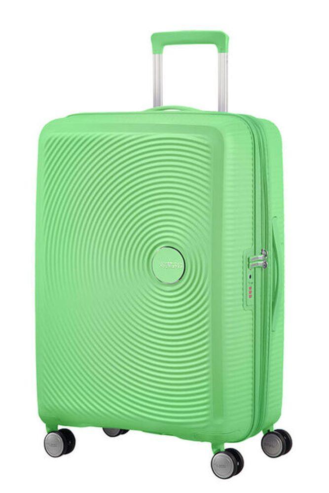 Levně American Tourister Cestovní kufr Soundbox Spinner EXP 97/110 l - zelená