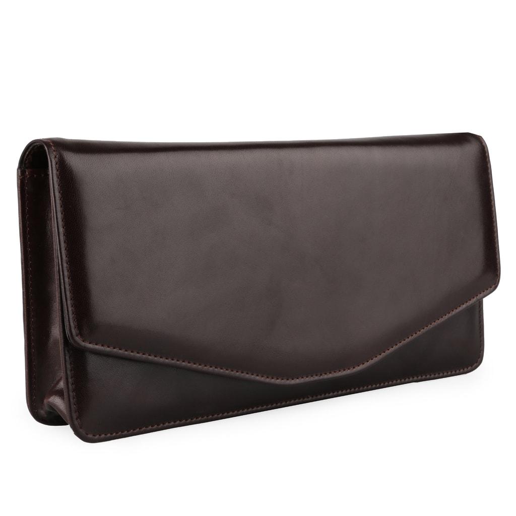 2a24f0125b5c Kožená listová kabelka Hajn vás bude skvele sprevádzať na akejkoľvek  spoločenskej udalosti.