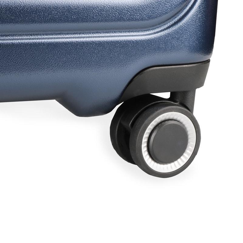 2733534124628 Veľkosť S, M, L: cestovné kufre March majú 4 dvojité kolieska, otočné v 360  °, ktoré zaistia väčšiu stabilitu a ľahšie manévrovanie s kufrom.
