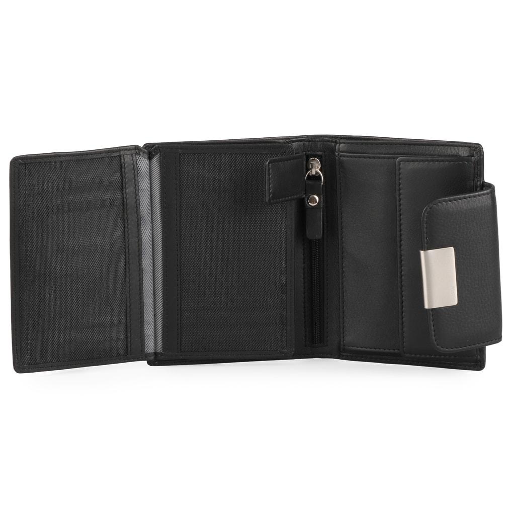 aea26f965 Vnitřek je vybaven celkem 8 přihrádkami na karty, 2 oddíly na bankovky,  kapsou na mince a 5 dalšími přihrádkami na doklady.