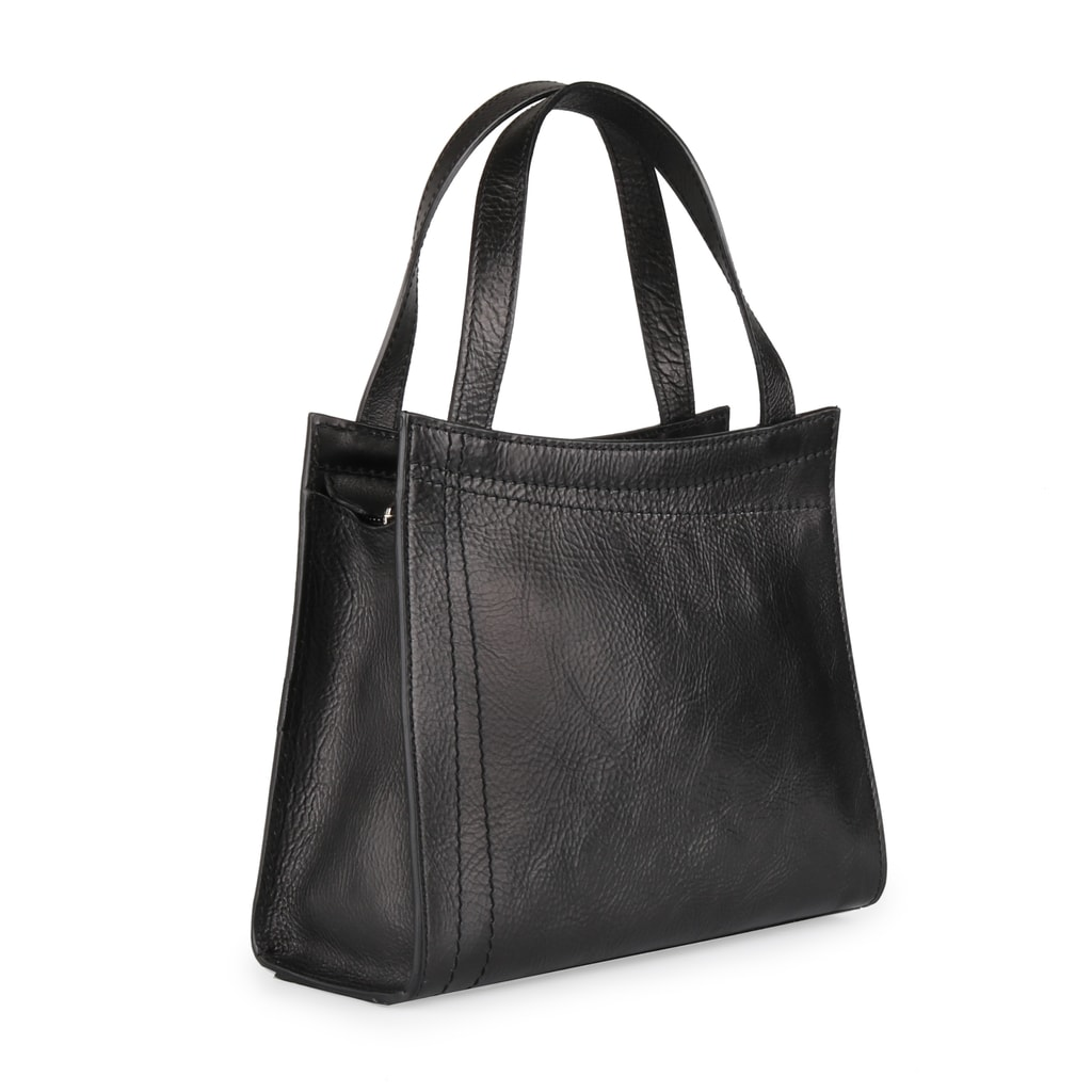 73b95d4dc Kožená čierna dámska kabelka do ruky Elega - 67527 - Elega - Kabelky ...