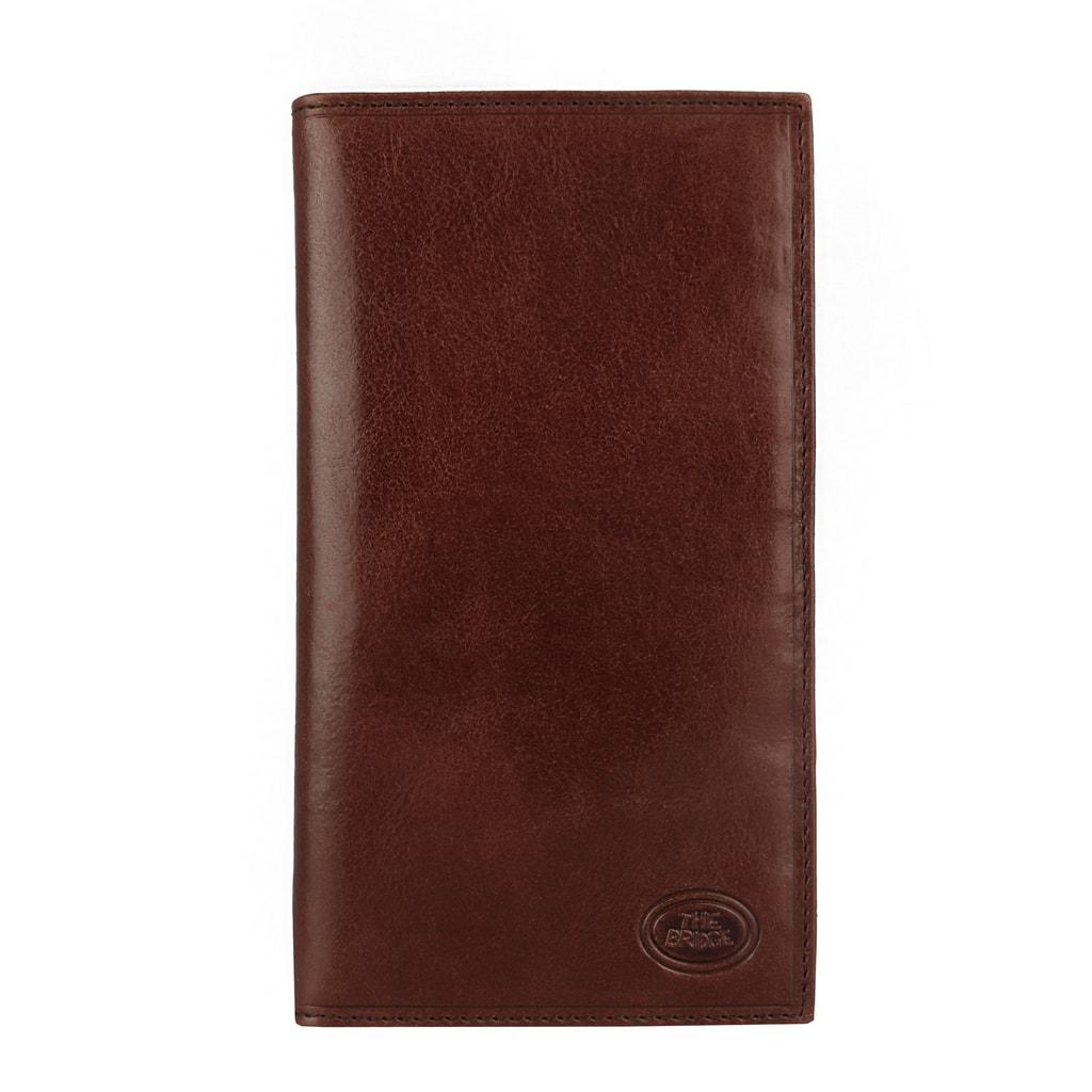 202409390 Prvotriedna koža, nestarnúce spracovanie a bohatý interiér - luxusné kožené  puzdro na doklady a karty talianskej značky The Bridge.