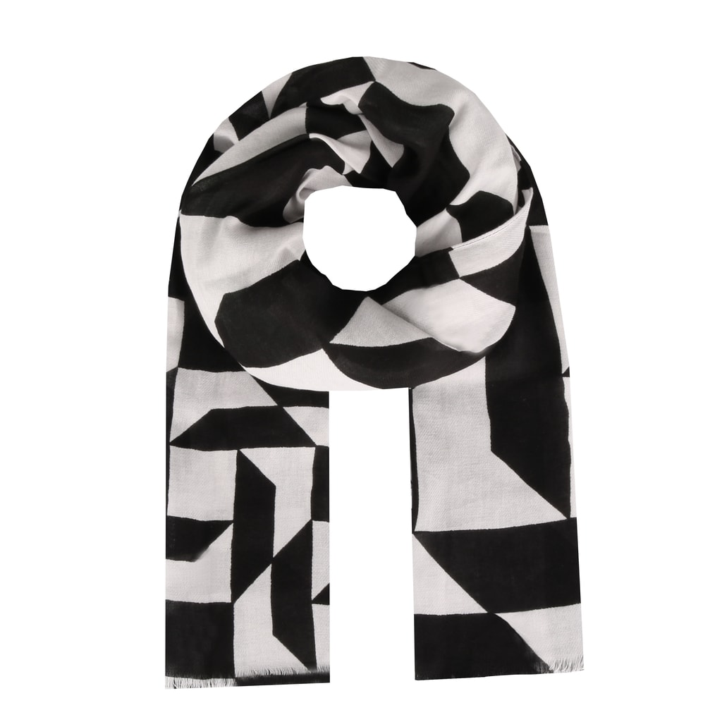 7eaf0ed242 Dámska bavlnená šatka Calvin Klein s geometrickými tvarmi krásne oživí váš  outfit.
