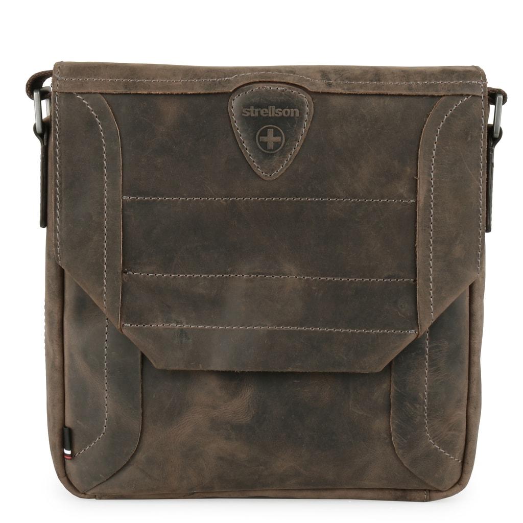 e856bcce4 Pánska kožená taška cez rameno luxusnej švajčiarskej značky Strellson z  obľúbenej kolekcie Hunter vás nadchne svojimi skvelými organizačnými  prvkami a ...