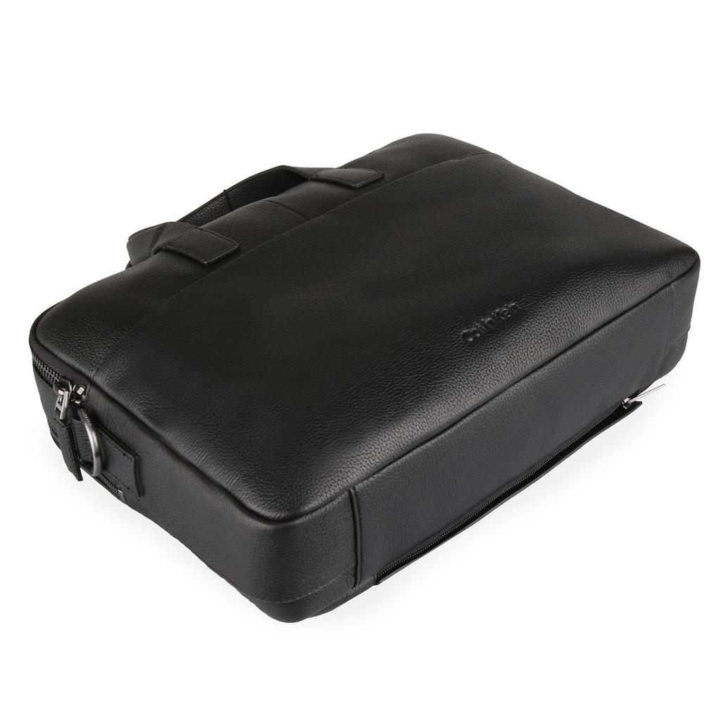 b906304bef Pánska kožená taška na notebook 2 Gusset K50K504349 - Calvin Klein ...