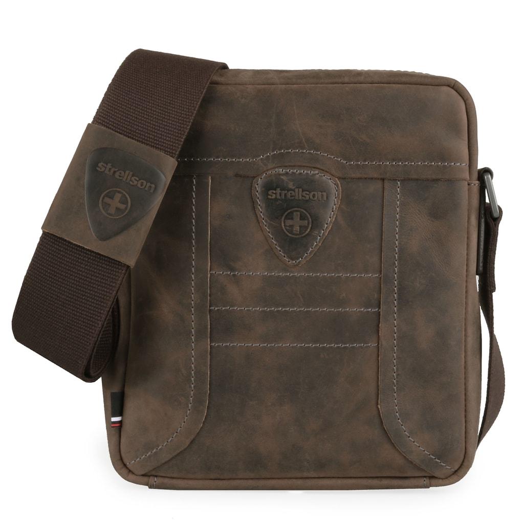 67f4c29f0 Stylová pánská kožená taška přes rameno Strellson v kompaktní velikosti je  nestárnoucí klasika napříč všemi generacemi.