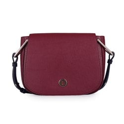 TOMMY HILFIGER, DÁMSKA CROSSBODY KABELKA TH CORE SADDLE AW0AW07370 - CROSSBODY KABELKY