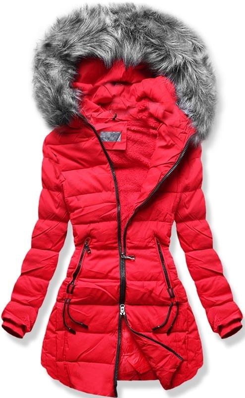 MODOVO Dámska zimná bunda B9501 červená
