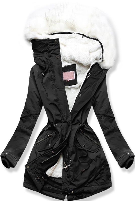 MODOVO Dámska zimná bunda W258 čierna