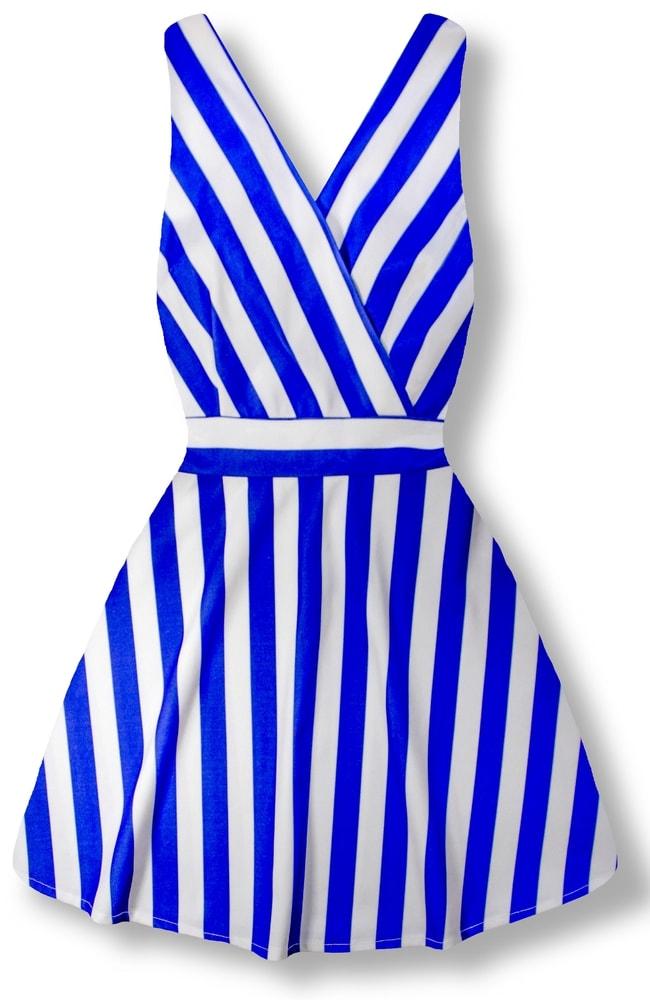 MODOVO Elegantné dámske šaty 8512 modré