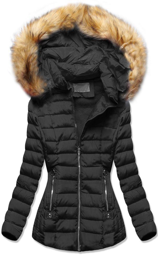 MODOVO Zimná bunda s kapucňou čierna - M