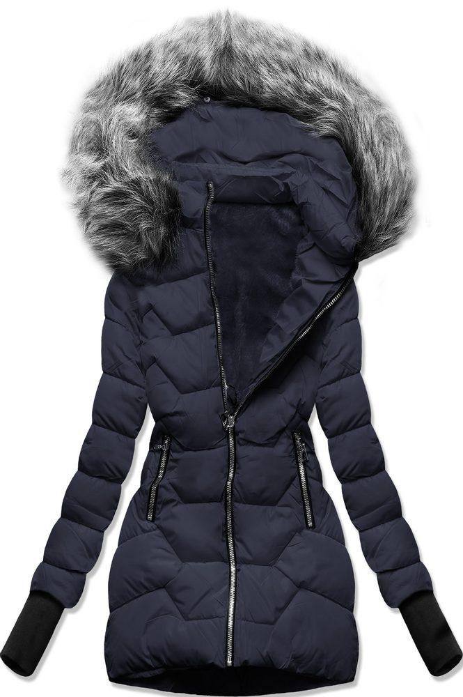 MODOVO Zimní bunda s kapucí tmavě modrá