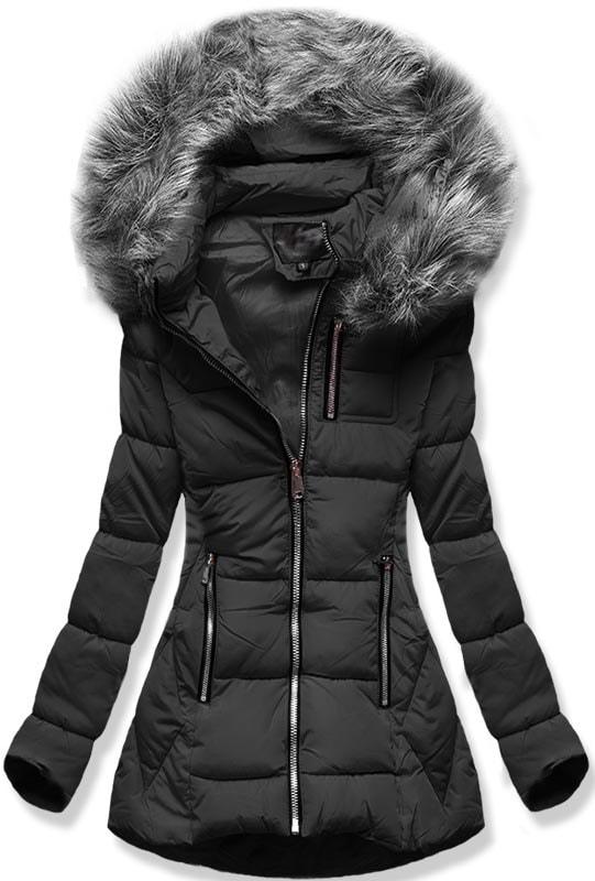 MODOVO Dámska zimná bunda B9901 čierna