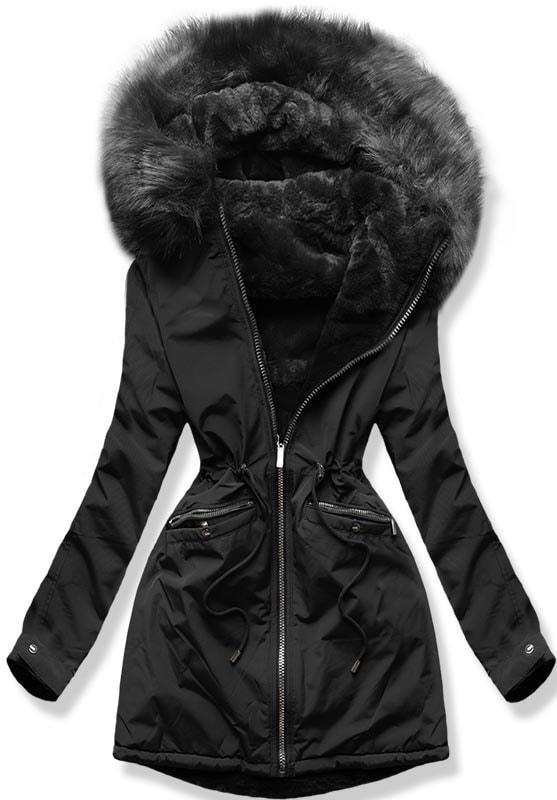 MODOVO Dámska zimná bunda W253 čierna