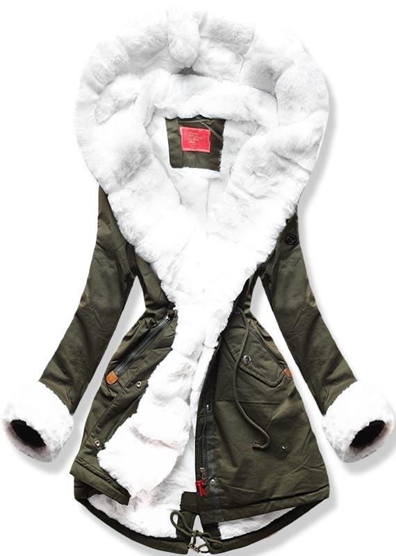 MODOVO Dámska zimná bunda khaki