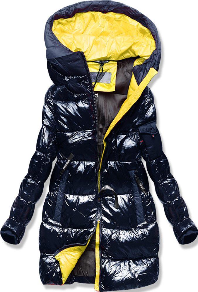 MODOVO Zimná bunda s farebnou podšívkou tmavomodrá