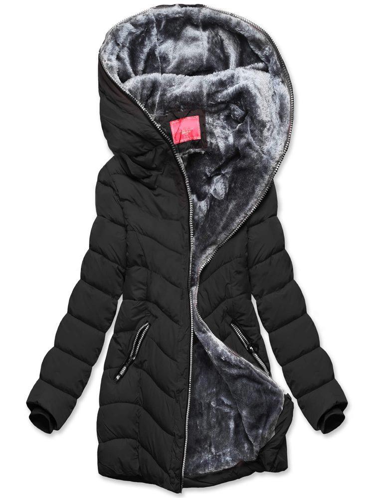 MODOVO Dámska zimná čierna bunda