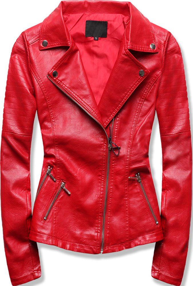MODOVO Dámska koženková bunda červená - XL