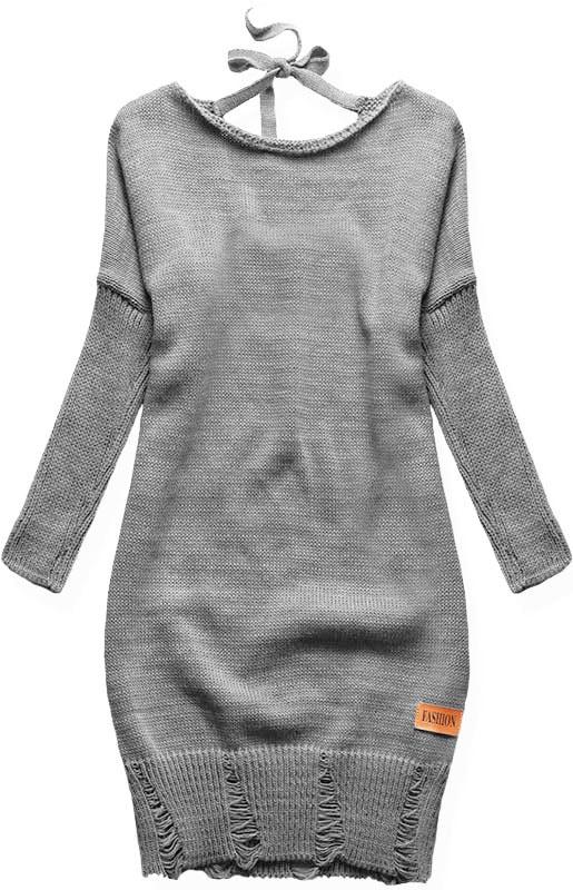 MODOVO Dlhý dámsky sveter SWF01W šedý