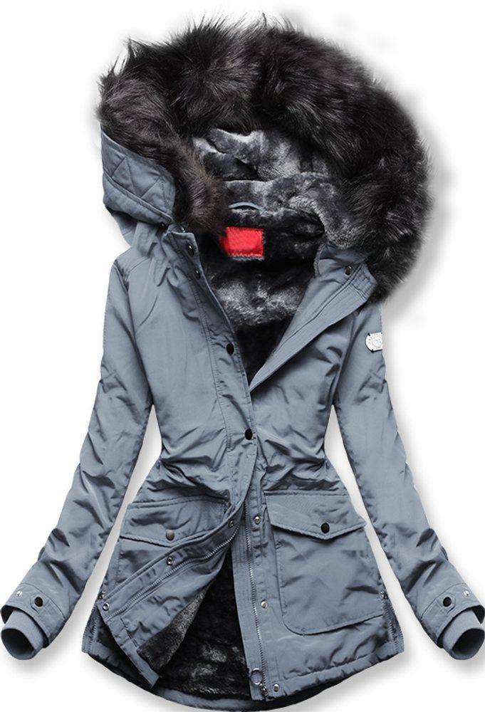 MODOVO Zimná bunda sivo-modrá - XXL