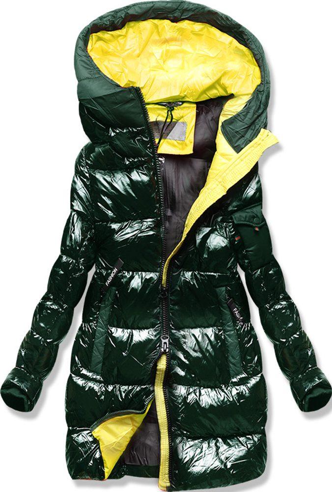 Zimná bunda s farebnou podšívkou khaki - M