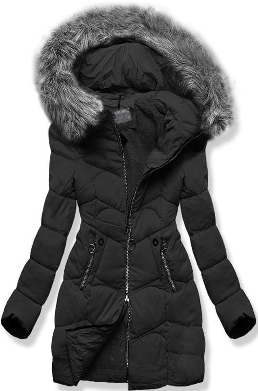 MODOVO Dámska zimná bunda B2643 čierna