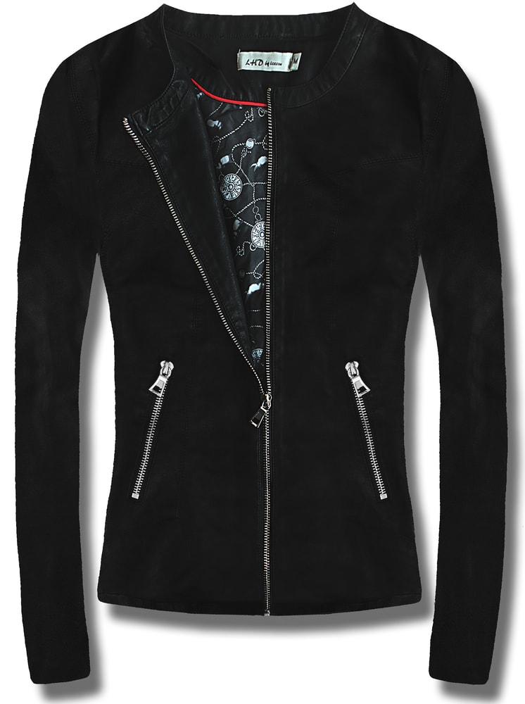 MODOVO Dámska koženková bunda T130 čierna