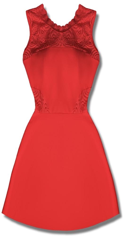 MODOVO Elegantné dámske šaty červené