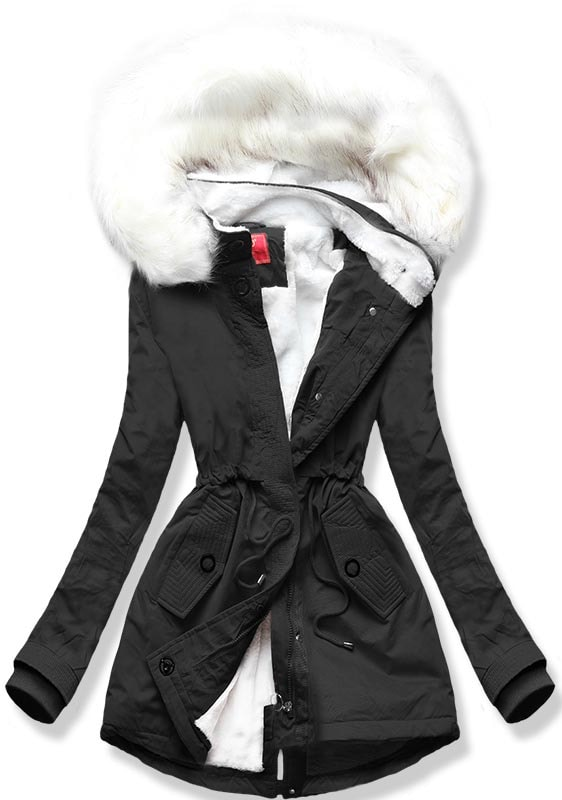 MODOVO Dámska zimná bunda Q33 čierna - S