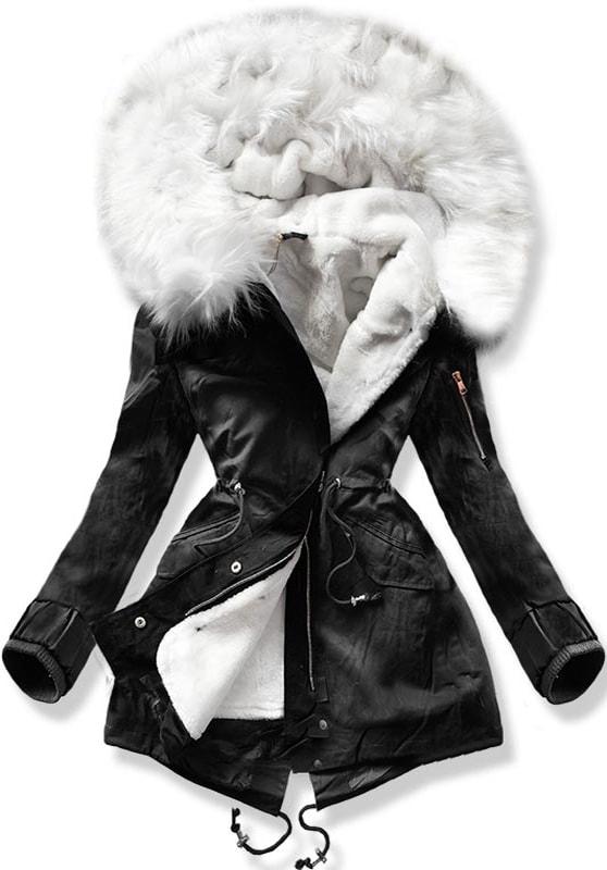 MODOVO Dámska zimná bunda B504 čierna