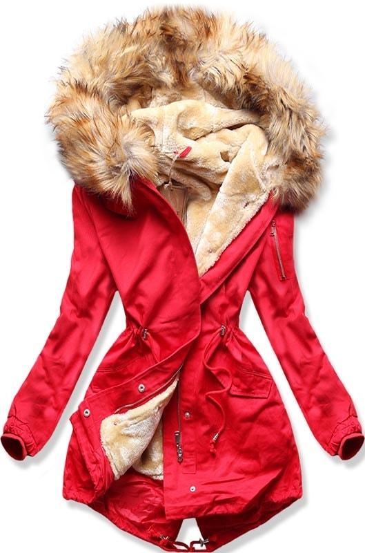 MODOVO Dámska zimná bunda B504 červená