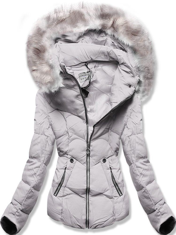 MODOVO Zimní bunda s kapucí šedá - XXL