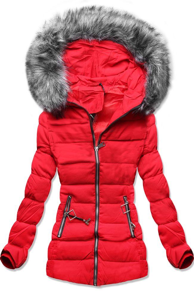 MODOVO Dámska zimná bunda červená - XL