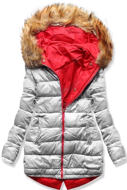 MODOVO Dámska zimná bunda sivá